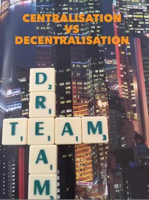 Centralised vs decentralised